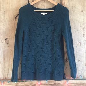 Sonoma Emerald Green Cable Knit Sweater